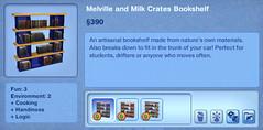 Melville and Milk Crates Bookshelf