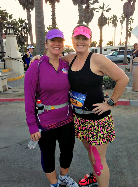 Monique and I before Surf City Half Marathon