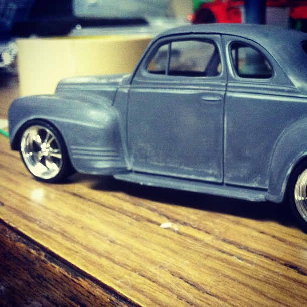 '41 Plymouth WIP #scalemodel #plasticmodel #plymouth #amt #hotrod #custom #classic