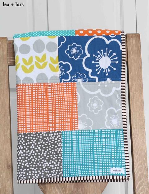 patchwork Bella baby quilt