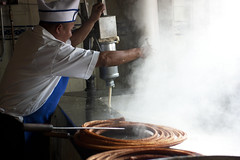 churros being made @ churrería el moro