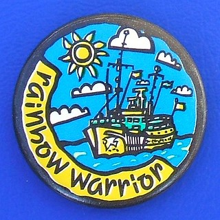 Rainbow Warrior (Greenpeace ship) - promotional or fund-raising badge (1980's)