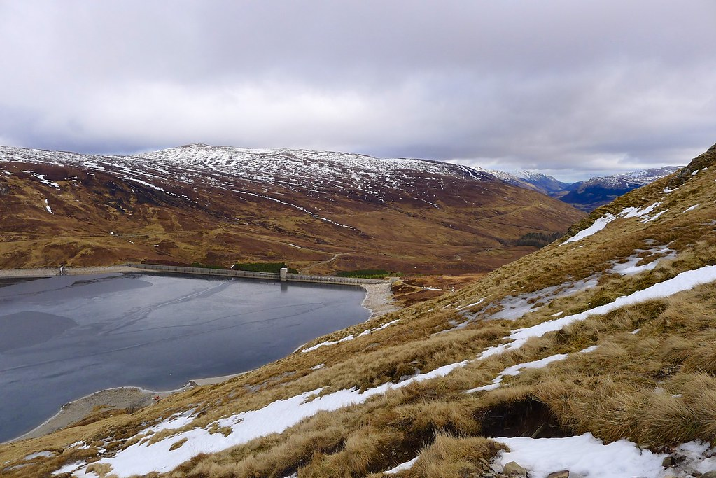 Looking over the Giorra Dam to Glen Lyon
