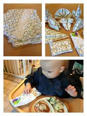 Green toddler napkins