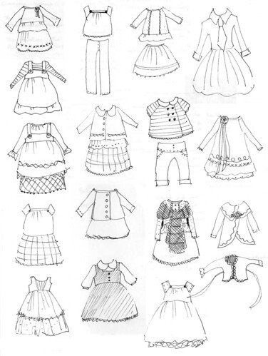 Little dress drawings by little_moshi