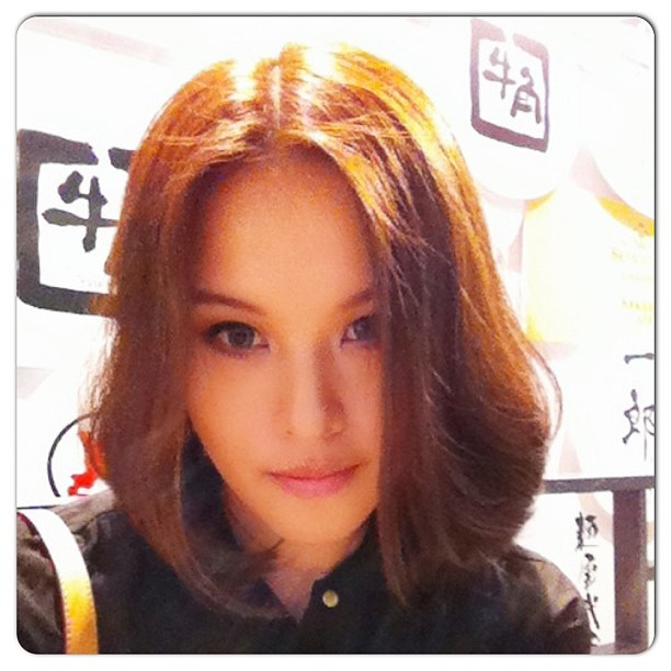 New hairstyle revealed! Blow dried and styled. #cute #shorthair #newhair #newstyle #japanese #bob @number76style