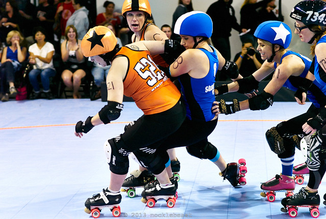a little offense and defense from Shamrock N. Roller #8, Queen Litigious #41 and Ginger Brute #7343