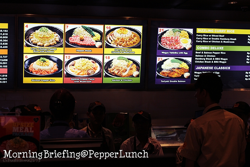 Morning Briefing @ Pepper Lunch Restaurant