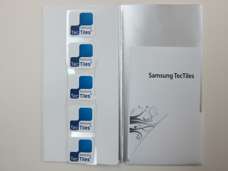 Samsung TecTiles NFC Tags - Packaging Inside View