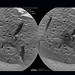"This dual image of a Martian rock taken by the ChemCam instrument aboard the Curiosity rover shows a rock at the ""Rocknest"" area on Mars before it was interrogated with ChemCam's high-powered laser (left) and after interrogation by 600 laser blasts (right). The crosshairs in the darkened portion of the image at right shows where the laser beam penetrated to a depth of at least 1 mm as a result of the repeated shots. The ChemCam laser vaporizes a small amount of material that can be read by a spectrometer to determine the target's composition."