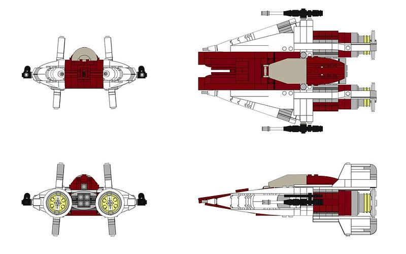 Moc Ldd A Wing With Ldd File Lego Star Wars Eurobricks Forums