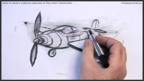 learn how to draw a cartoon airplane in two point perspective 042