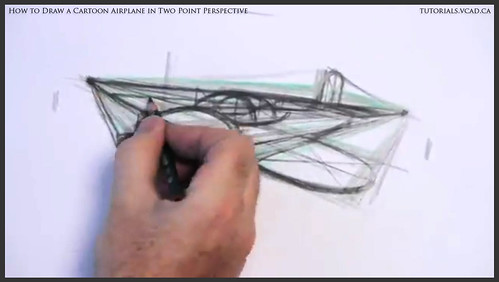 learn how to draw a cartoon airplane in two point perspective 024