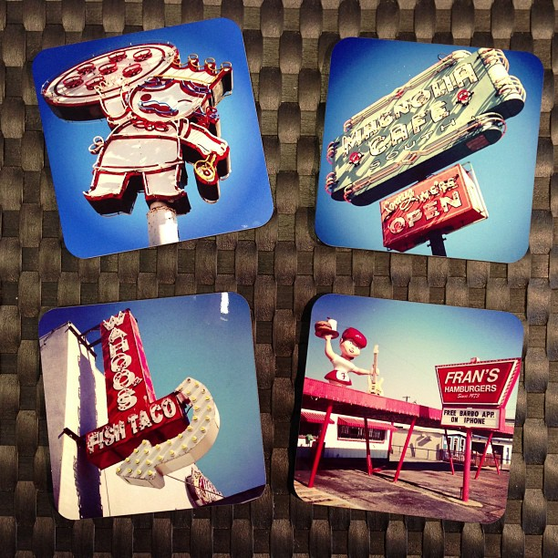 #sxsw Coasters I made from Instagram photos of South Congress. #shutterfly