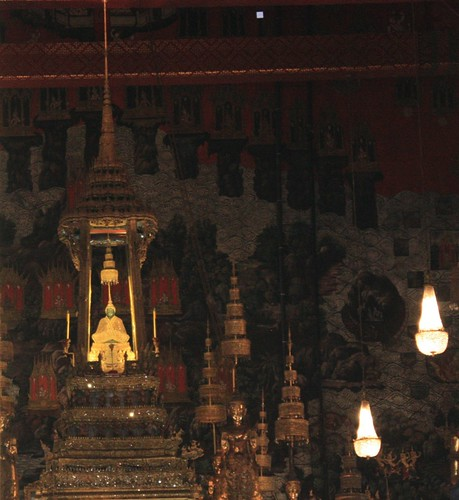 the emerald buddha dressed in gold