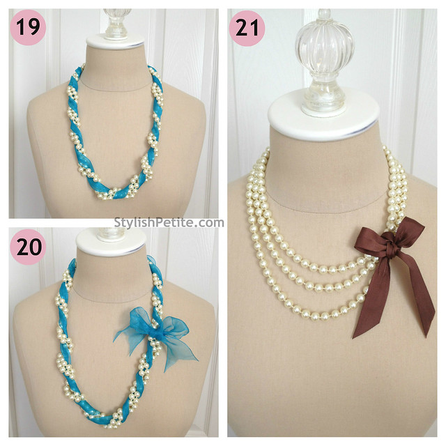 "How to wear a 60"" Pearl Necklace 21 ways6"
