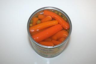 10 - Zutat Erbsen & Möhren / Ingredient peas & carrots