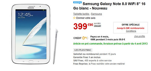 Samsung Galaxy Note 8.0 ODR 50€
