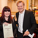 Design Challenge - Kasper Holten and Mollie Gibb, winner in hair and make up design © Mat Smith/ROH 2013