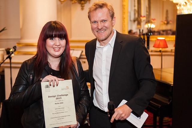 Design Challenge - Kasper Holten and Mollie Gibb, winner in hair and make up design © Mat Smith/ROH 2013