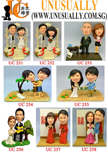 Custom 3D Lovely Couple Figurines Summary Design List - UC251 -  UC260 - @www.unusually.com.sg