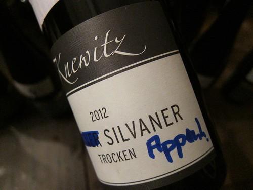 2012 Appenheimer Silvaner Knewitz