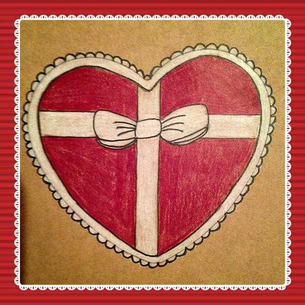 Day 27 & 28: #present & #heart  #postcard #snailmail