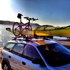 Also went kayaking this morning. Cross training Suby.