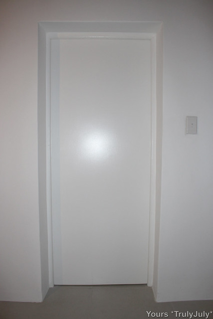 I painted this bathroom door myself and love the result.