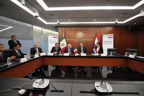 El día 23 de agosto del 2016 se llevó a cabo en el Senado de la República la Visita al Senado de la República del Emb. Eladio Loizaga, Ministro de Relaciones Exteriores de la República de Paraguay.