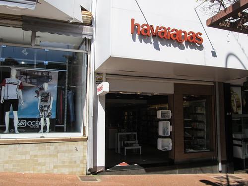 Foz do Iguaçu: le fameux magasin officiel Havaianas, où nous avons acheté nos tongs
