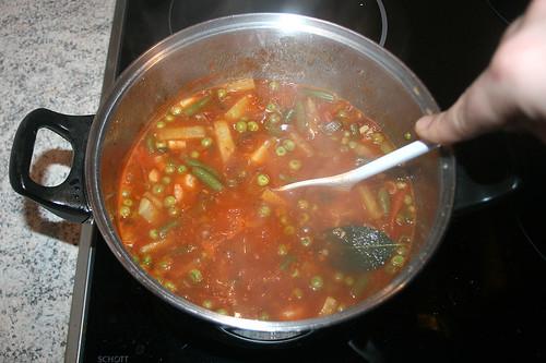 45 - Garnelen-Gemüse-Topf / Prawn vegetable stew - Köcheln lassen / simmer