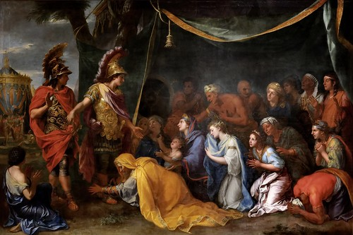 Charles Le Brun - The Family of Darius Before Alexander [c.1660] by Gandalf's Gallery
