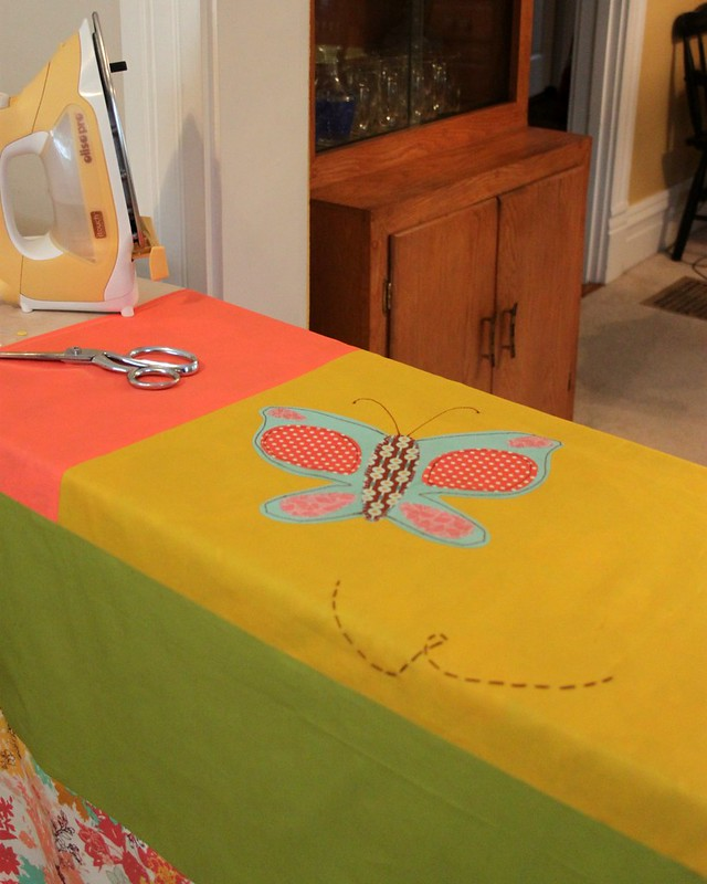 Butterfly Curtain -- Stitched Applique