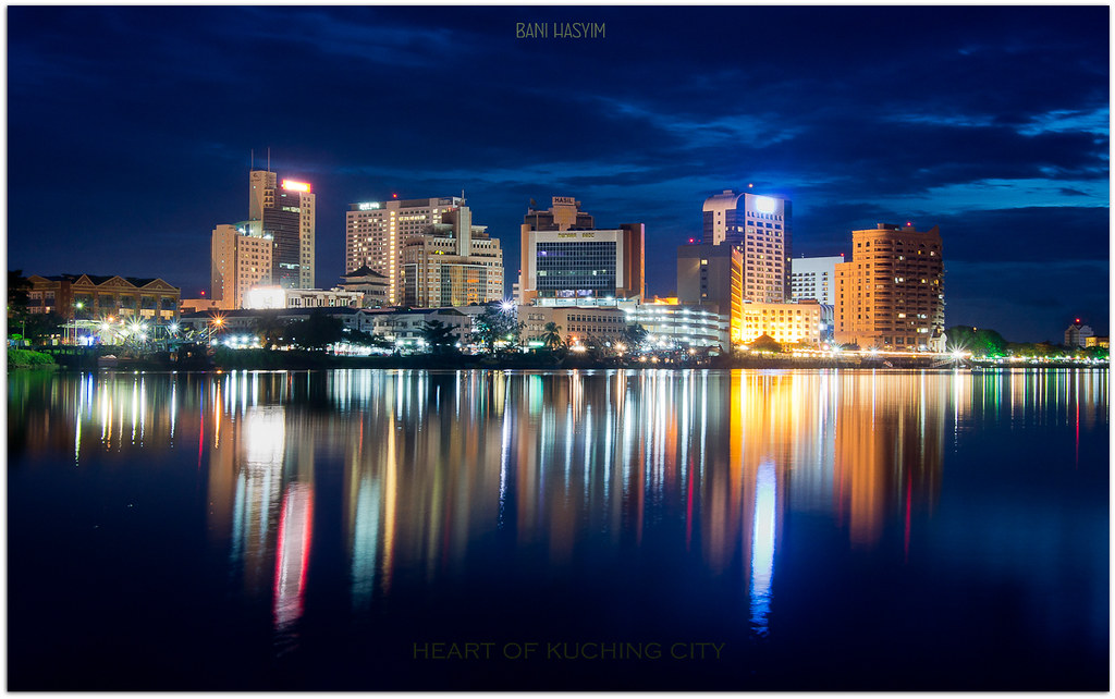 The heart of kuching city by volvoab for Home wallpaper kuching