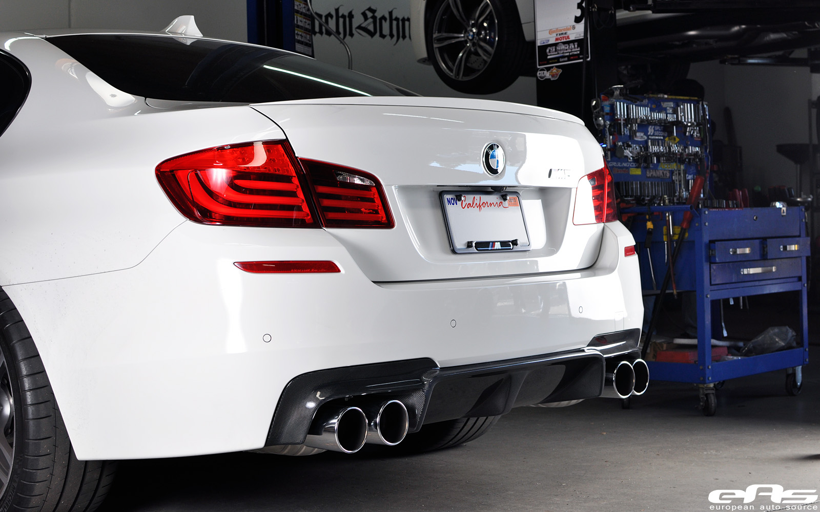 3D Design Carbon Fiber Diffuser for BMW F10 M5 by eas