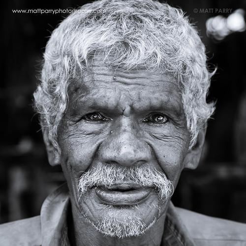 old portrait people blackandwhite bw man face canon square beard grey mono faces market portraiture srilanka kandy 60d facingcamera mattparry