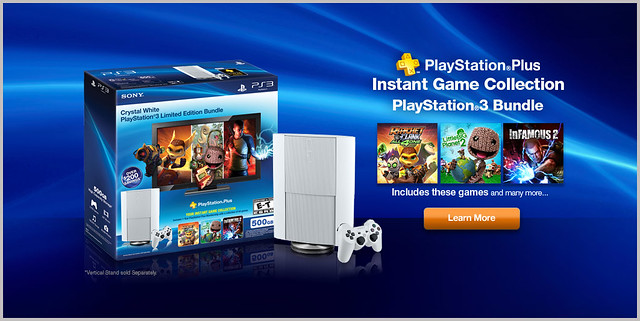 Classic White PS3 PS Plus Bundle