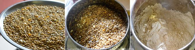 Homemade Multigrain Atta   How to make chapati flour