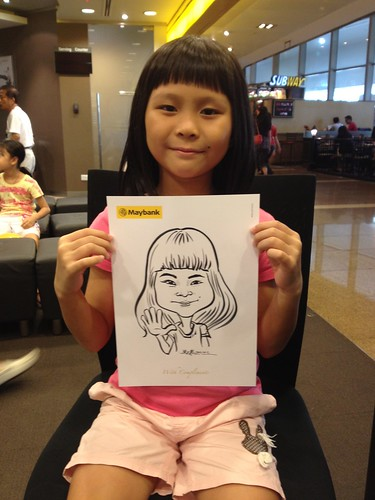 caricature live sketching for Maybank Roadshow - 6