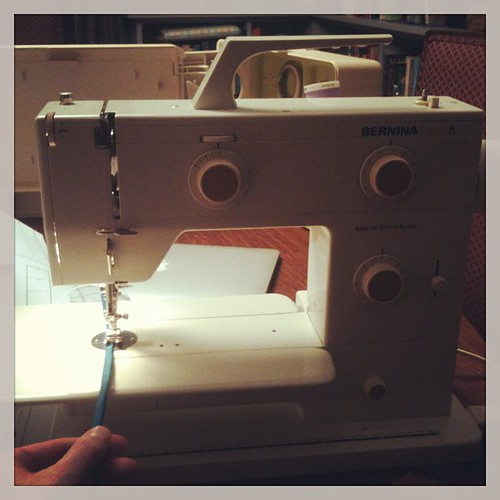"Miss Nova, I love you!!!! 1/4"" ties were almost impossible to stitch on my janome (the feed dogs were so wide set), they were do-able on the featherweight, but they're a pleasure on my new baby. Nova has adjustable needle position, like newer machines, th"