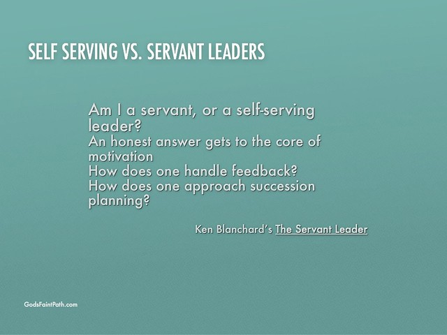 followship servant leaders serving leaders