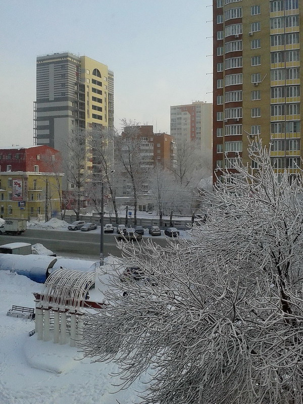 Winter 2012 in Chelyabinsk, Russia