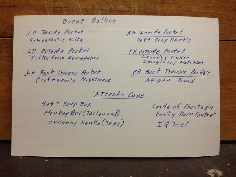 Magic performance list