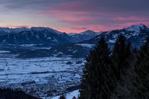 pink schnee winter sky mountain snow mountains tree berg st night clouds sunrise schweiz switzerland nikon long exposure suisse himmel wolken berge 09 valley anton polarizer rheintal viewpoint rhine sonnenaufgang baum hitech ausblick stanton appenzell tanne langzeitbelichtung gnd innerrhoden d800e pwwinter