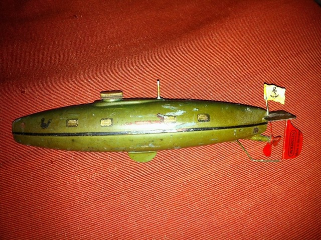 1920s MARKLIN U-BOAT SUBMARINE VINTAGE METAL CLOCKWORK ...