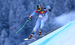 Manuel Osborne-Paradis wrestles with the Streif, finishing 10th in the Kitzbühel downhill.