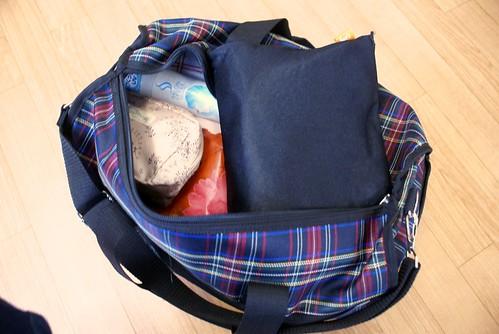 旅行カバンのパッキング