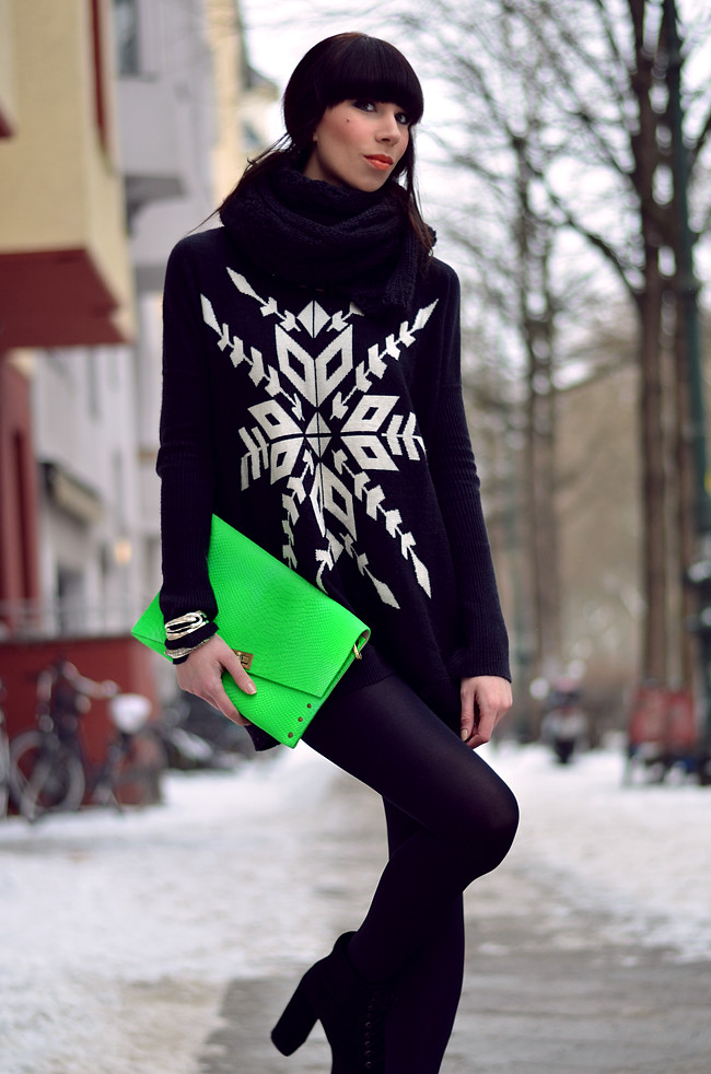 Blogger outfit: ohhandy green clutch AX Paris jumper 9