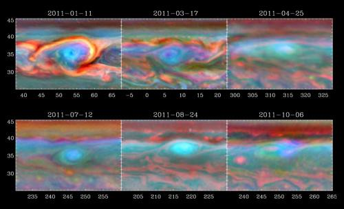 Tempesta su Saturno: evoluzione del vortice